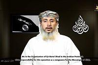 Nasser ben Ali al-Anassi, l'un des chefs d'al-Qaida au Yémen, revendiquant dans une vidéo l'attaque contre