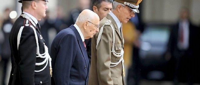 Giorgio Napolitano au Quirinale, le 14 janvier. Le mandat du président courait jusqu'en 2020.