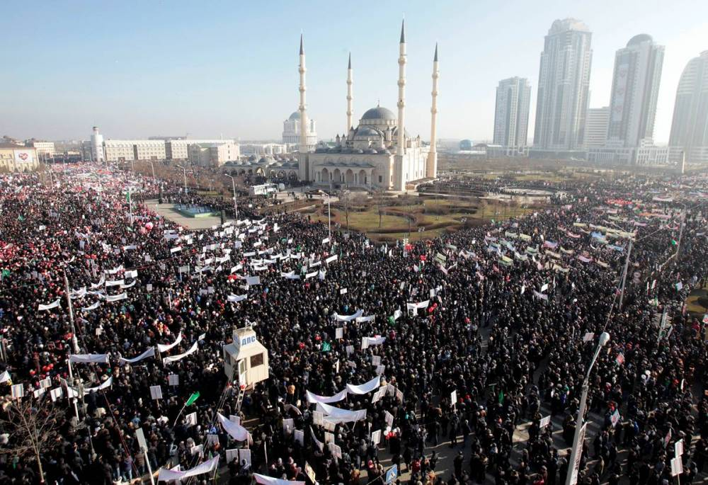 Grozny, le 19 janvier ©  AFP