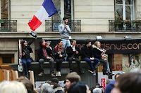 Lors de la marche républicaine à Paris. ©AFP