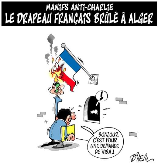"""Un dessin de Dilem dans """"La Liberté"""" ©  Ali Dilem/La Liberté"""