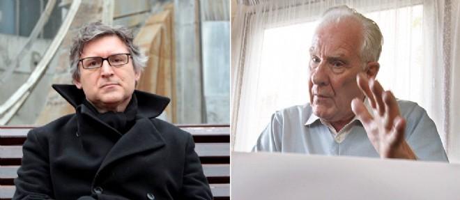 Michel Onfray et Alain Badiou. ©KENZO TRIBOUILLARD-PATRICK HERTZOG