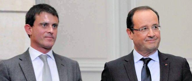 Manuel Valls et François Hollande, le couple exécutif (illustration).