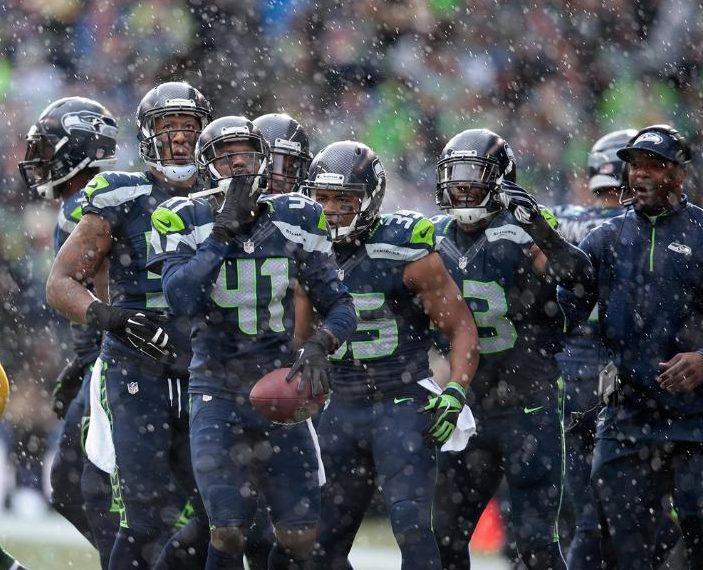 Les Seahawks de Seattle lors de la finale de conférence.