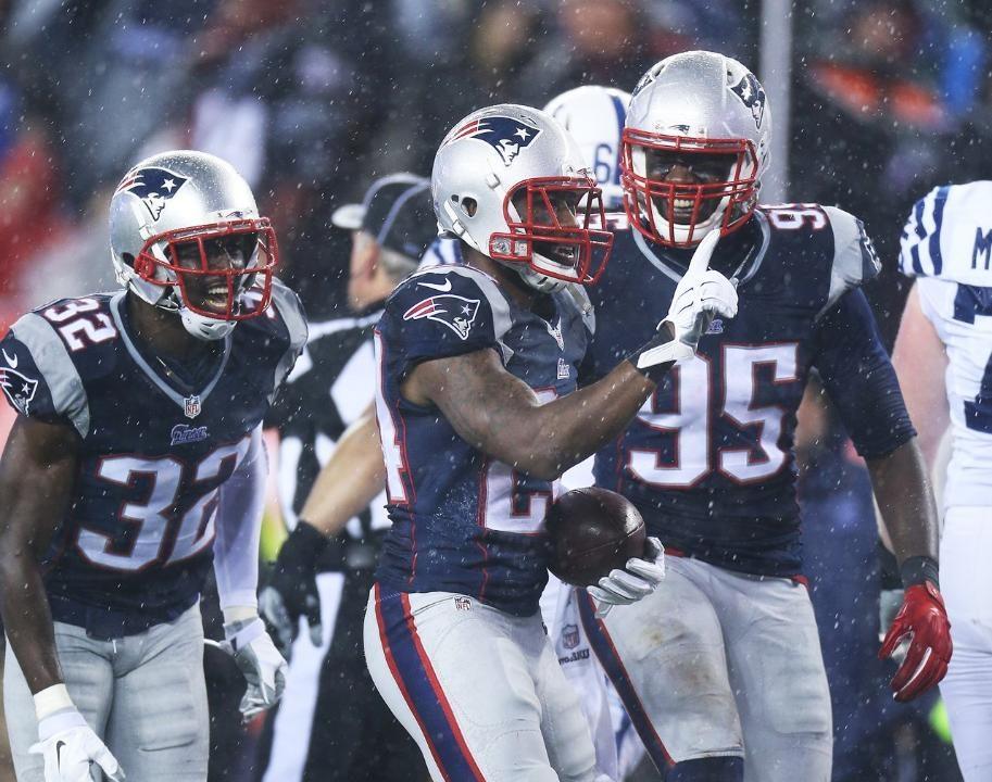 Les New England Patriots lors de la finale de conférence. ©  DR