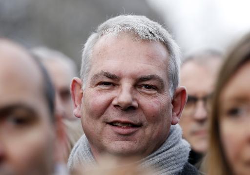 L'ancien secrétaire général de la CGT Thierry Lepaon participe à la Marche Républicaine du 11 janvier 2015 à Paris © Thomas Samson AFP/Archives