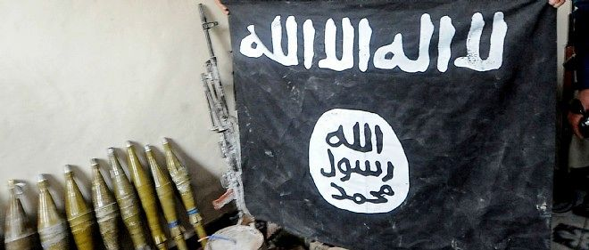 Drapeau de l'organisation État islamique.