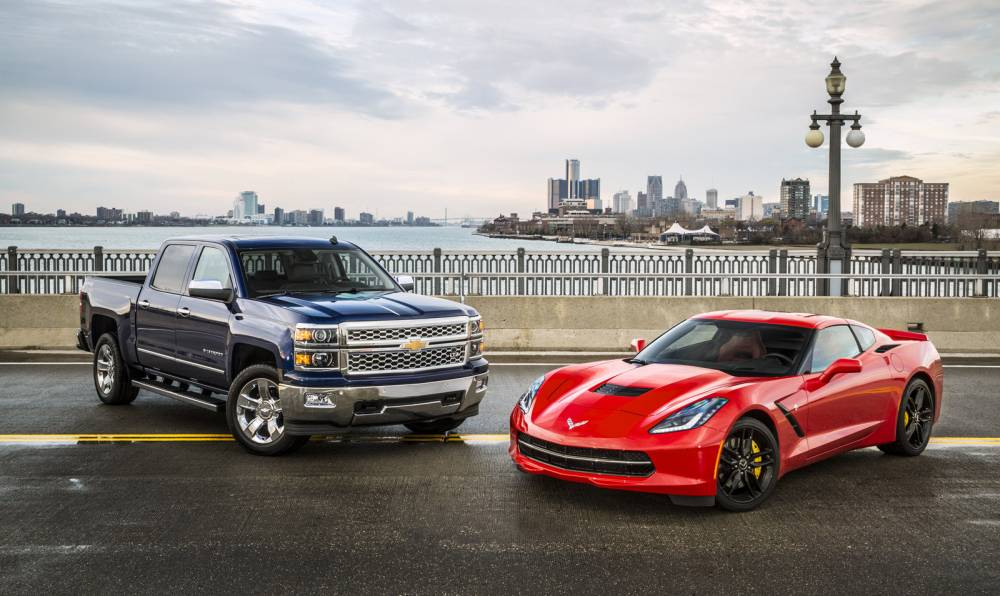 Entre le Silverado et la Corvette, un point commun: Chevrolet ©  GM