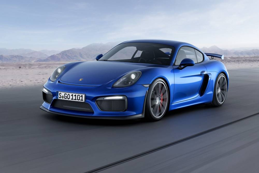 Avec 385 ch pour 1340 kg, le Cayman GT4 abat le 0 à 100 km/h en 4,4 secondes. ©  PORSCHE