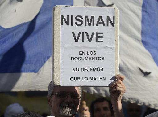 Manifestation pour que la mort du procureur argentin Alberto Nisman soit élucidée, le 4 février 2015 à Buenos Aires © Juan Mabromata AFP