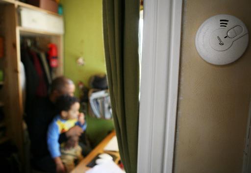 Un détecteur dans un appartement le 26 février 2010 à Paris © Loic Venance AFP/Archives