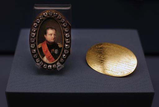Un portrait miniature de Napoléon exposé au British Museum de Londres, le 4 février 2015 © Adrian Dennis AFP