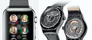 Apple Watch ou Swatch connectée, que le meilleur gagne.