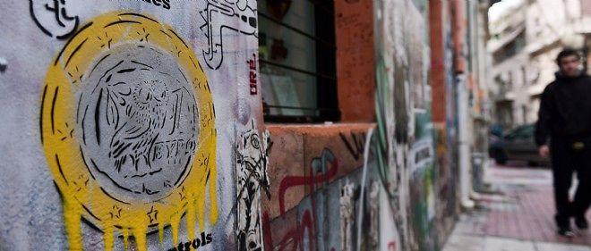 Graffiti dans une rue d'Athènes, le 4 février.