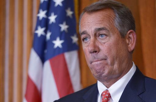 John Boehner, le président républicain de la Chambre des représentants, le 10 février 2015 à Washington © Mandel Ngan AFP