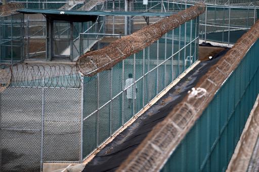 Un détenu dans la base américaine de Guantanamo le 8 avril 2014 © Mladen Antonov AFP/Archives
