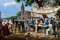 La conscription par tirage au sort date de 1818. Il faut attendre le desastre de 1870 pour que l'idee d'un service national universel soit institue. Un cas d'ecole.