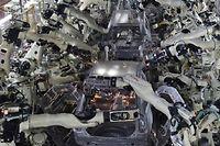 Une chaîne d'assemblage de véhicules dans une usine japonaise (illustration). ©KAZUHIRO NOGI