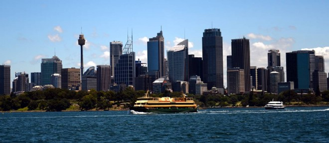 Vue de Sydney. La ville concentre plus de la moitié des Français d'Australie. ©AFP PHOTO / Saeed KHAN