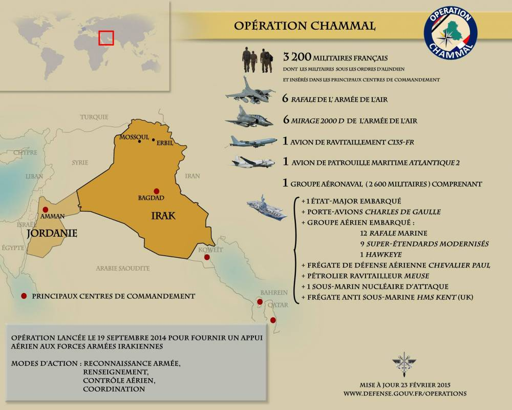 L'opération Chammal de l'armée française en Irak ©  DR