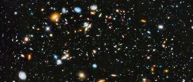 Une toute petite portion de notre vaste Univers vue par le télescope Hubble (détail du champ ultra-profond de Hubble).