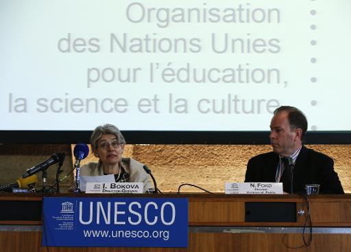 La directrice générale de l'Unesco, Irina Bokova, le 27 février 2015 à Paris © François Guillot AFP