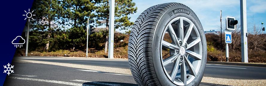 Un seul pneu pour les 12 mois de l'année, une vraie quadrature du cercle résolue ©  Michelin