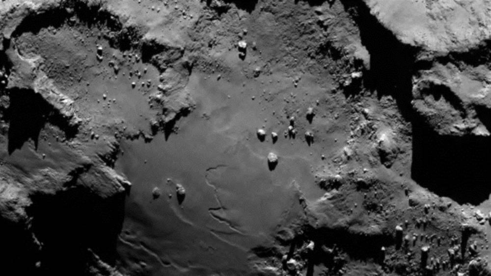 La surface de la comète Chury ©  Cnes/Esa