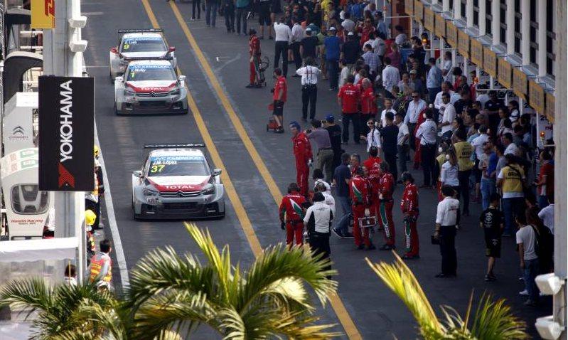 Lors du dernier meeting de la saison dernière, à Macao. ©  Citroën Racing