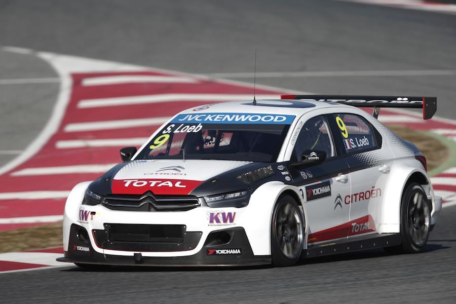 Sébastien Loeb, lors des essais en février. ©  Citroën Racing