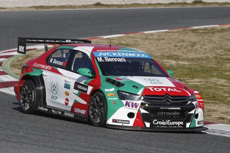 Mehdi Bennani, lors des essais d'avant-saison. ©  Citroën Racing