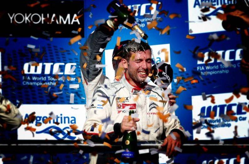Lopez, lors de sa victoire l'an dernier. ©  Citroën Racing