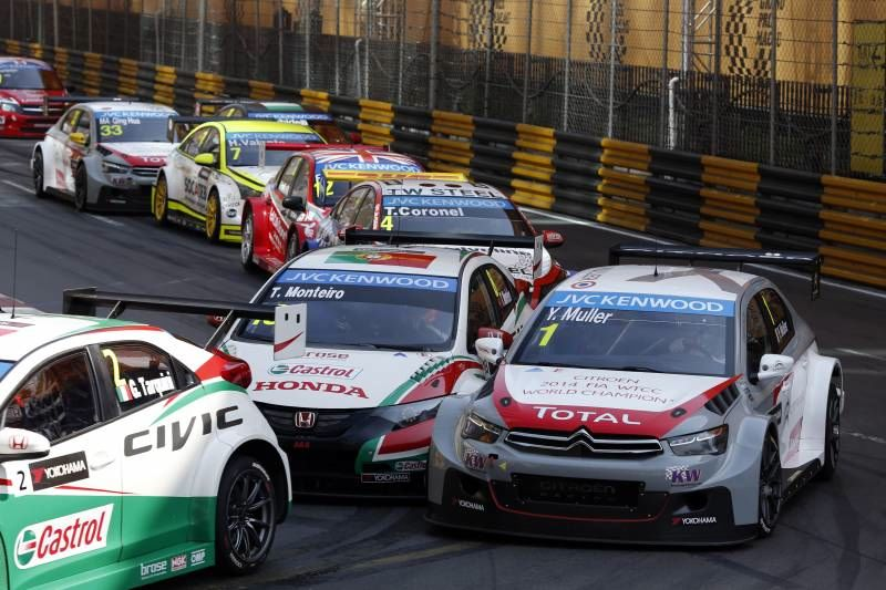 Lors du dernier meeting, à Macao. ©  Citroën Racing