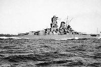 Le cuirasse japonais Yamato, navire-jumeau du Musashi. (C)Archives de la Marine imperiale japonaise