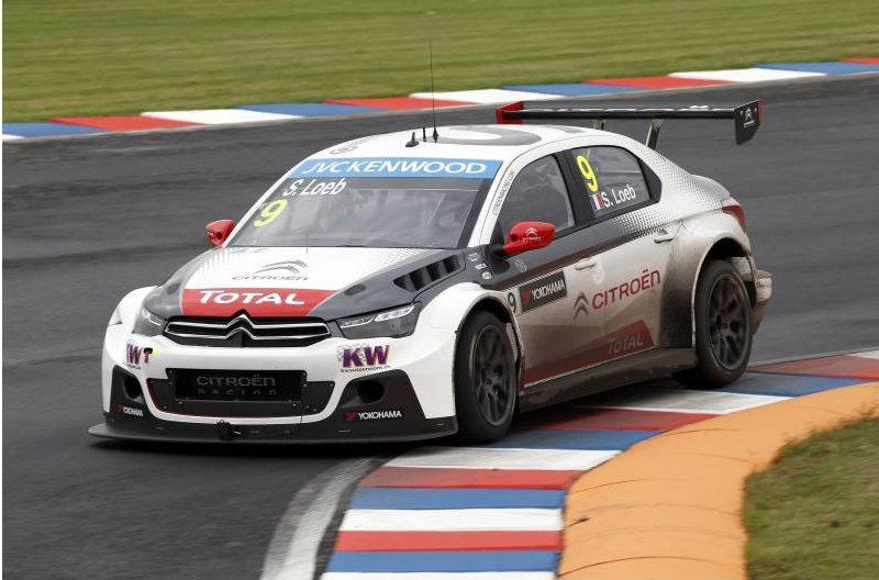 Sébastien Loeb, lors des essais libres. ©  Citroën