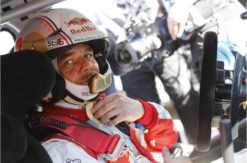 Sébastien Loeb, sur le rallye du Monte-Carlo cette année. ©  Citroen