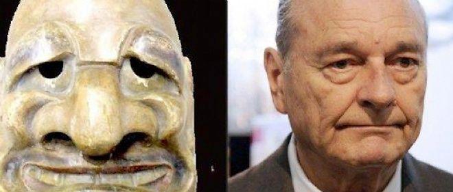 Difficile de nier la ressemblance entre ce masque japonais et l'ancien président.