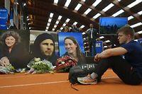 Cérémonie d'hommage à l'INSEP le 11 mars 2011 aux trois sportifs français tués dans un accident d'hélicoptère en Argentine. ©ALEXIS KRALAND
