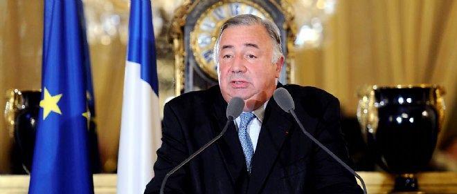 Le président du Sénat, Gérard Larcher, lors d'une conférence de presse le 25 septembre 2011.