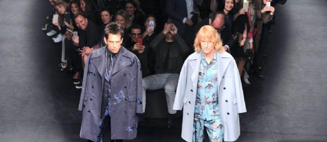 Ben Stiller et Owen Wilson, mannequins surprise du défilé Valentino à Paris, pour la promotion de leur film