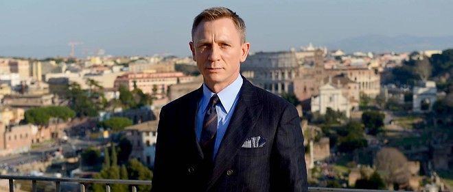 """Daniel Craig sur le tournage de """"Spectre"""" à Rome, en février."""