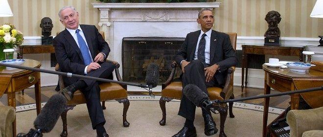 Barack Obama et Benjamin Netanyahu à la Maison-Blanche, le 1er octobre 2014.