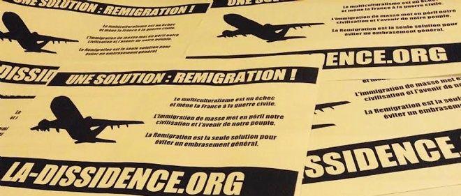 """Sur son site, le mouvement La Dissidence française vante une """"opération éclair"""" menée dans la nuit de jeudi à vendredi contre le musée de l'Immigration."""