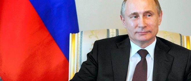 Vladimir Poutine, le 16 mars lors d'une conférence de presse donnée après 10 jours d'absence.