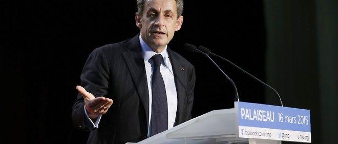 Nicolas Sarkozy s'est rendu à Palaiseau pour soutenir Georges Tron aux départementales.