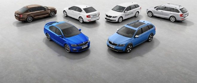 Le modèle le plus vendu de la gamme Skoda est l'Octavia.