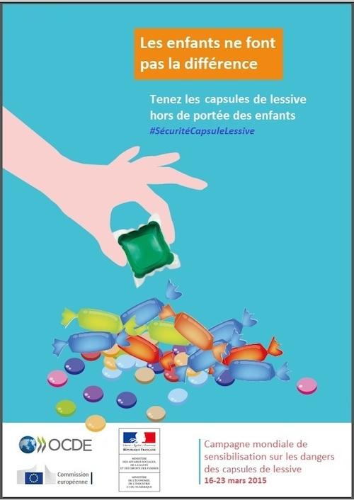 Campagne de sensibilisation aux dangers des capsules de lessive ©  DR