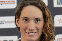 Camille Muffat, championne de natation de 25 ans, est morte dans l'accident d'hélicoptères en Argentine le 9 mars. ©CHARLY TRIBALLEAU / AFP