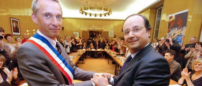 La ville de Tulle est l'ancien fief de François Hollande (ici avec Bernard Combes).