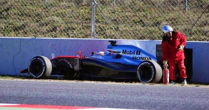 Lors de l'accident de F. Alonso. ©  DR